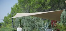 Custom shade sail with Roller
