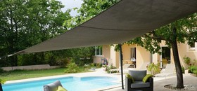 Wind resistant shade sails