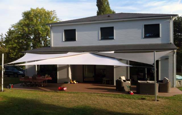shade sail installed