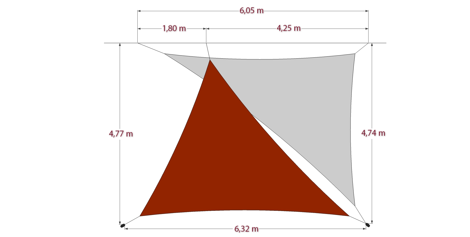 2 Triangles Australe 340 Shade Sails