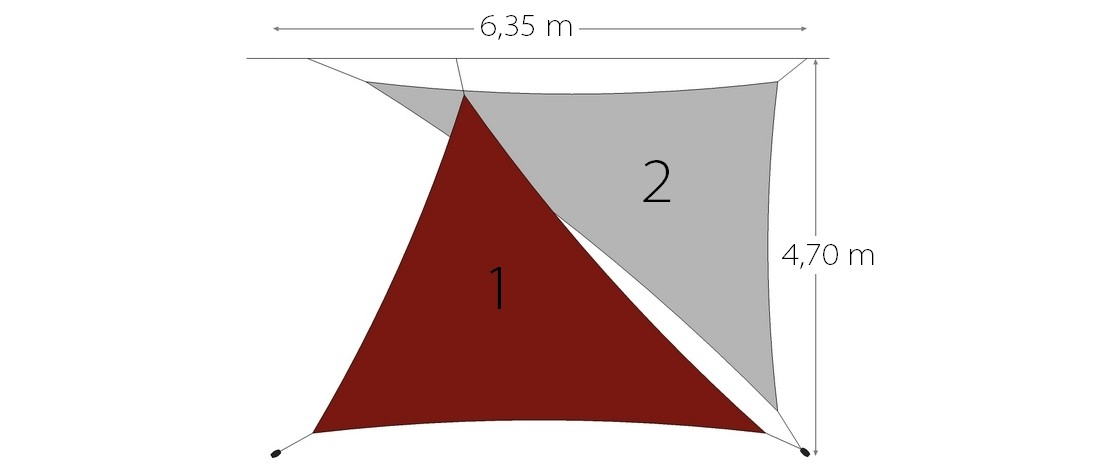 voile d ombrage pack 2 triangle